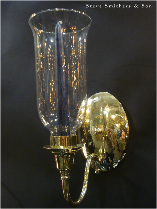 Wall Sconce Hurricane Lamp : Handmade Brass sconces chandeliers lamps lanterns